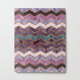 Glitter Waves Metal Print