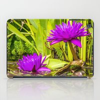 lotus flower iPad Cases featuring Lotus  by Karl-Heinz Lüpke