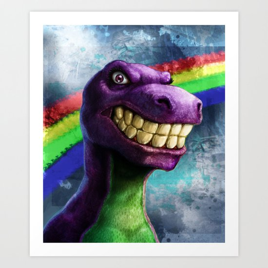 Barney the dinosaur Art Print