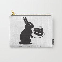 Bunnies Love Cake, Bunny Illustration, cake lovers, animal lover gift Carry-All Pouch