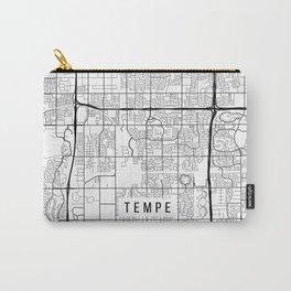 Tempe Map, Arizona USA - Black & White Portrait Carry-All Pouch