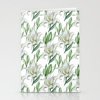 lily Stationery Cards featuring Lily by Julia Badeeva