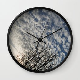 Spring Clouds Wall Clock