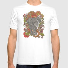 Bo the elephant White SMALL Mens Fitted Tee