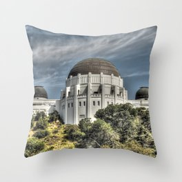 Griffith observatory Throw Pillow