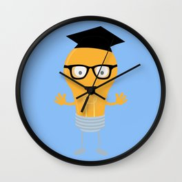 Nerd light bulb with glasses Bh171 Wall Clock