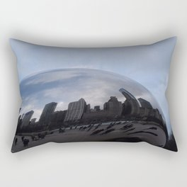 Cloud gate at Chicago Rectangular Pillow