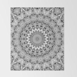 Black and white mandal Throw Blanket