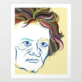 Beethoven Portrait Art Print