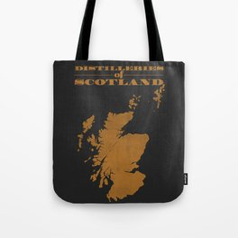 Distilleries of Scotland (woodpress) Tote Bag