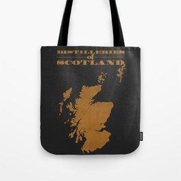 Distilleries of Scotland (woodpress) Tote Bag