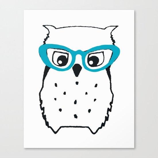 Cute Owl Glasses Canvas Print