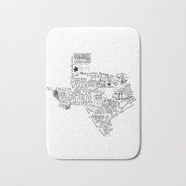 Texas - Hand Lettered Map Bath Mat