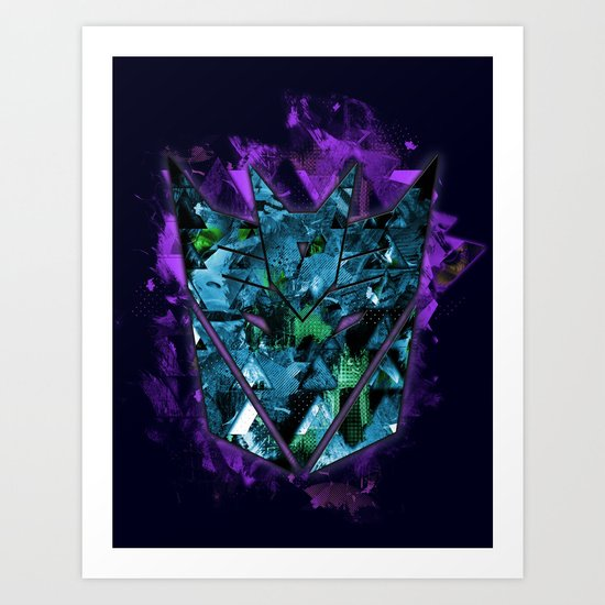 Decepticons Abstractness - Transformers Art Print