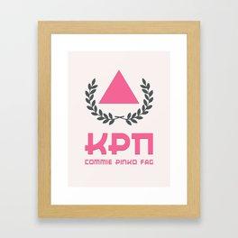 Commie Pinko Fag: Family Crest Framed Art Print