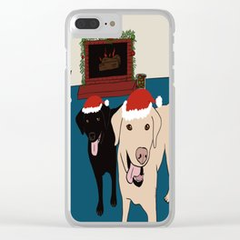 Labs Love Christmas! Clear iPhone Case