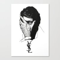 ysl Canvas Prints featuring YSL by Cécile Pellerin