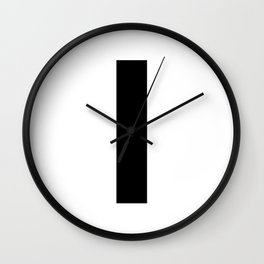 Letter I (Black & White) Wall Clock