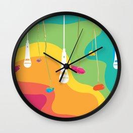 Rainbow Daydreaming Wall Clock