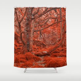 Ruby Moss Forest Shower Curtain