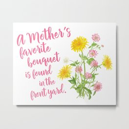 Mom's Favorite Bouquet Metal Print