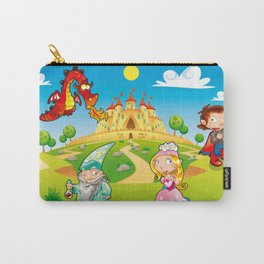 Medieval Age - Princess, Prince, Dragon, Magician. Carry-All Pouch
