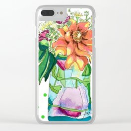 Summer in a Jar Clear iPhone Case