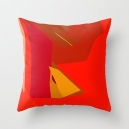 Red Confidence Throw Pillow