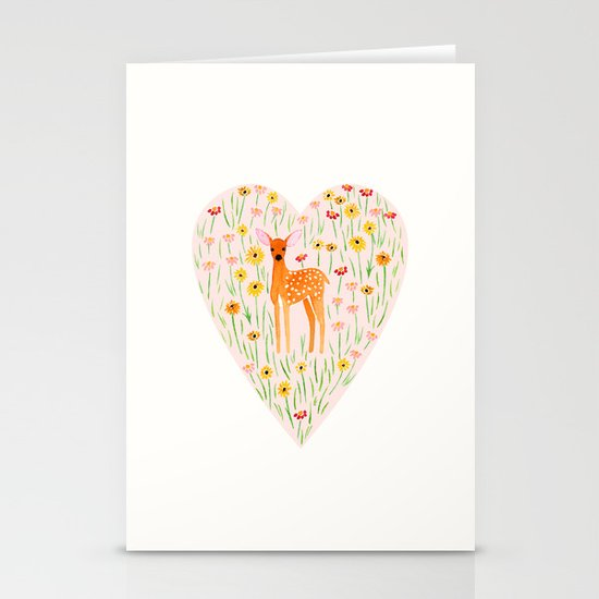 Fawn Valentine Stationery Cards
