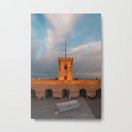 Montjuic Castle 01 Metal Print