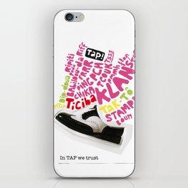 In tap we trust iPhone Skin