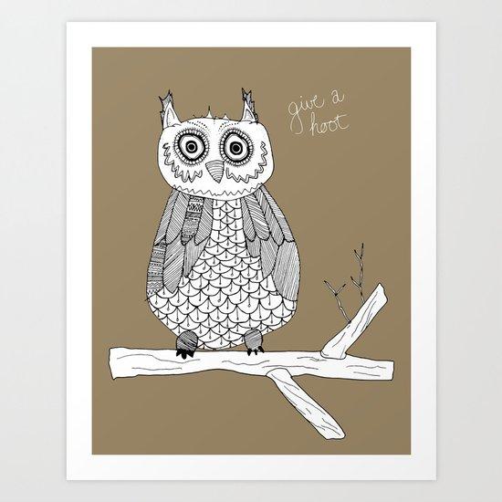 Give A Hoot Art Print