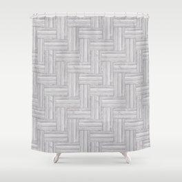 Light Gray Basket Textures Shower Curtain