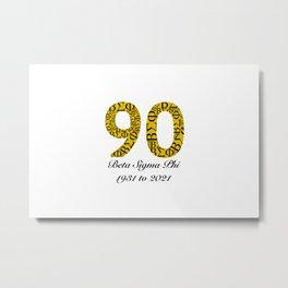 ΒΣΦ 90th on white (BSP) Metal Print