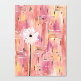 Daisy and The Words Canvas Print