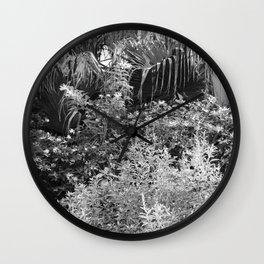 Island Garden 3 BW Wall Clock
