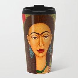 Frida Kahlo, reina de corazones Travel Mug