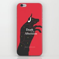 hemingway iPhone & iPod Skins featuring Ernest Hemingway book Cover & Poster - Death in the Afternoon by Stefanoreves