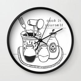 Cook it Yourself Folk Art Wall Clock