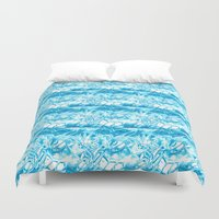 ice Duvet Covers featuring Ice. by Assiyam