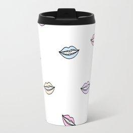 Lips Illustation Travel Mug