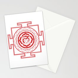 Sri Yantra Root Chakra Stationery Cards