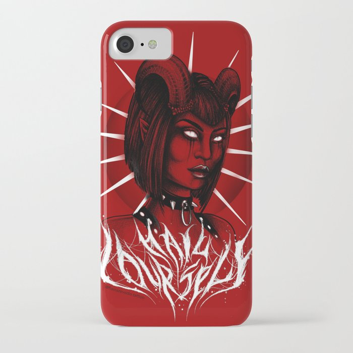 Red Hail Yourself iPhone Case