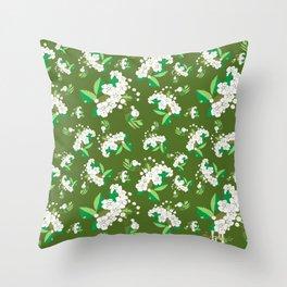 Hawthorn flower Throw Pillow