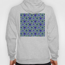 Spiral Mosaic Blue Hoody