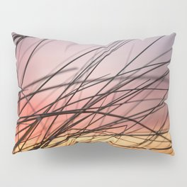 Grasses in the rainbow light of sunset Pillow Sham