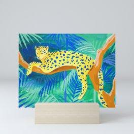 Leopard on Tree Mini Art Print