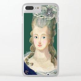 Marie Antoinette portrait Clear iPhone Case