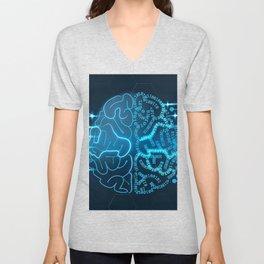 Binary brain Unisex V-Neck