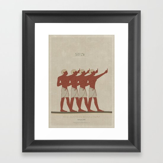 Egyptian Revolution Framed Art Print